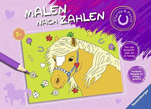 Malen nach Zahlen: Pferde und Ponys