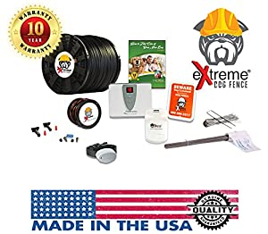 pet fence yard staples. EXtreme Dog Fence Second Generation InGround Electric Easy Installation DIY Kit Feature Rich Transmitter Unlimited Dogs Extended Area Pet Yard Staples D