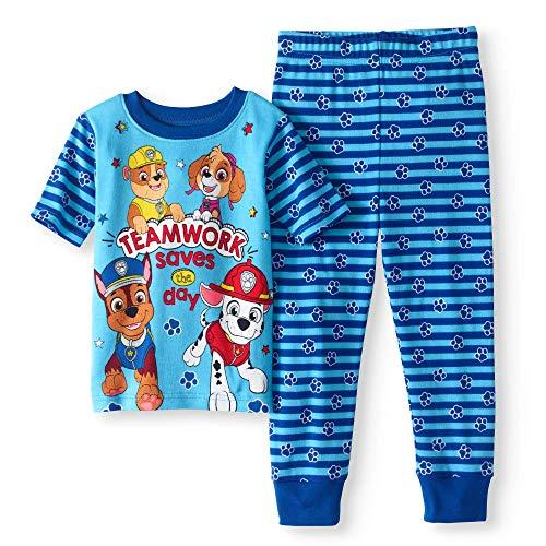 Nickelodeon Paw Patrol Teamwork Saves The Day Toddler Boy Cotton Tight Fit Pajamas