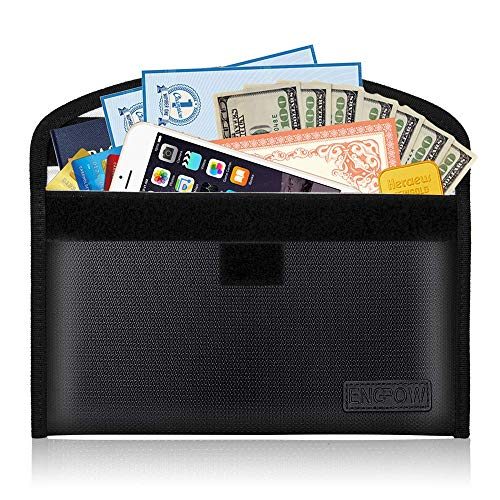 ENGPOW Fireproof Money Bag for Cash 10.6