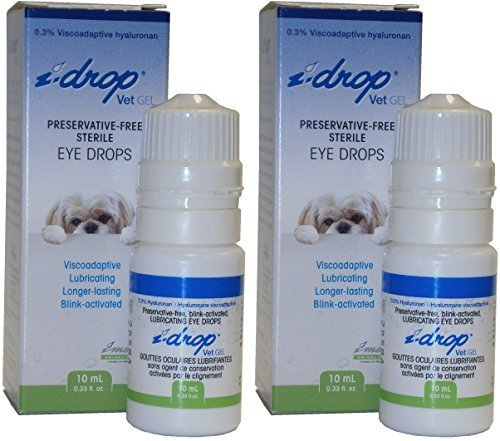 i-drop Vet GEL Preservative-Free Sterile Eye Drops 10ml Multi-dose (Pack of 2) by i-drop Vet