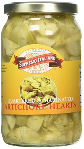 Supremo Italiano Artichoke Hearts Quartered, 105 Ounce Frozen Artichoke Hearts