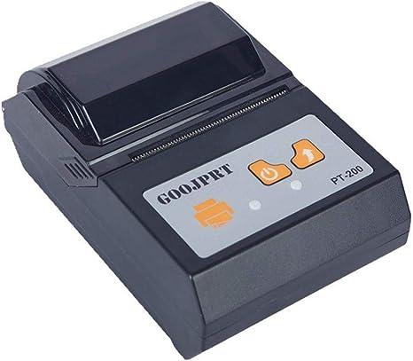 Amazon.com: Mini impresora térmica Bluetooth inalámbrica ...