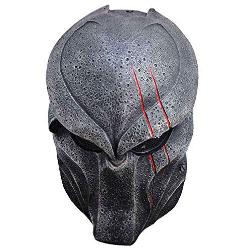 Charmgle Alien Vs Predator Resin Scar Mask AVP Movie Replica Collectible Statue Halloween Props Adult Costume Gift