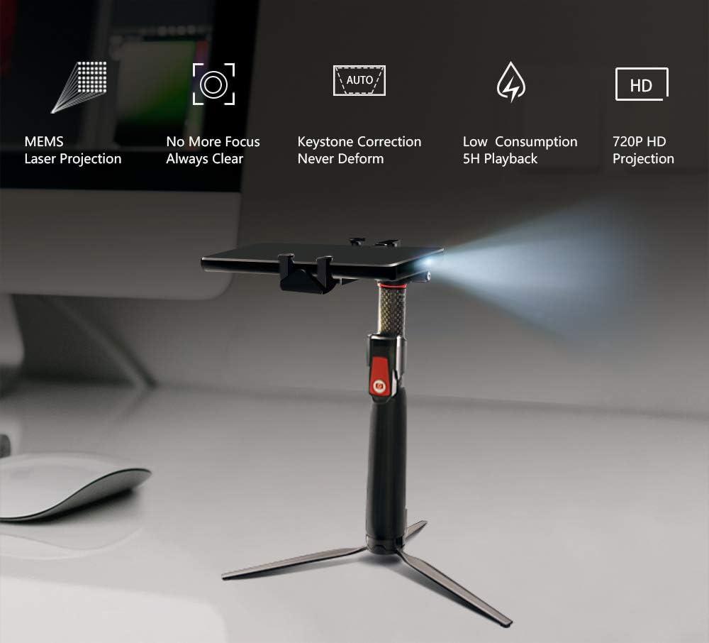 Blackview MAX 1 proyector láser 4G teléfono móvil 6,01 Pulgadas FHD Pantalla AMOLED 6GB + 64GB 4680mAh Carga rápida Android 8,1 MT6763T Dual Smartphone con Puerto de Tipo C Portable Home Theater: Amazon.es: Electrónica