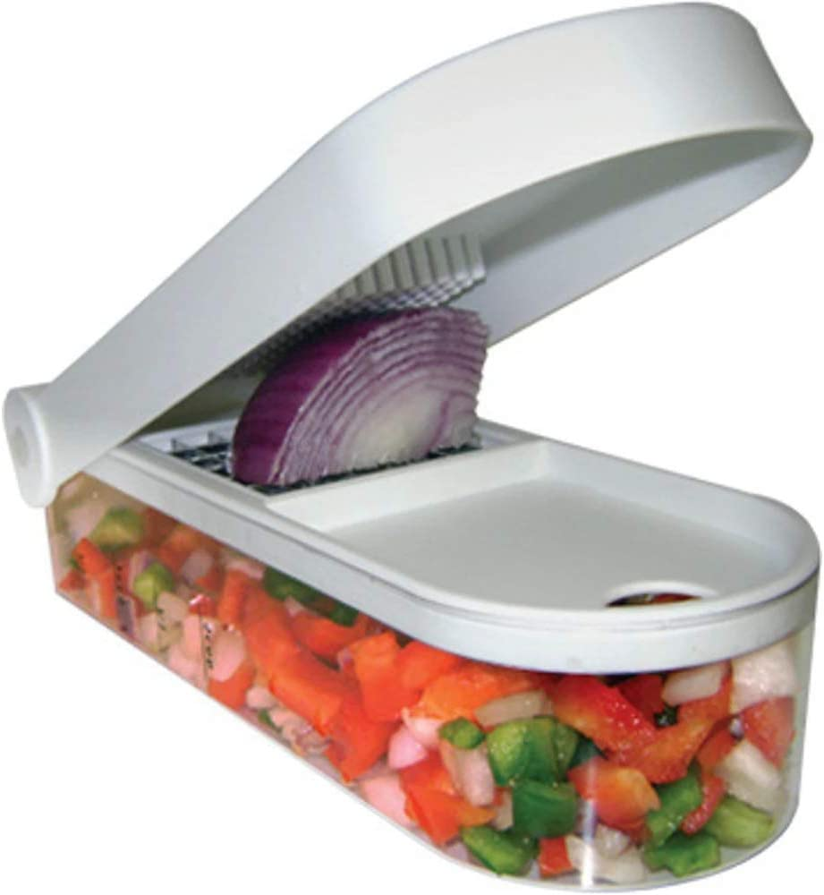 Magic Vegetable Chopper & Slicer | Two Interchangeable Blades, Capture Tray and Easy-Cleaning Tool | Perfect for Vegetables, Salads, Onions and More | from Jean Patrique