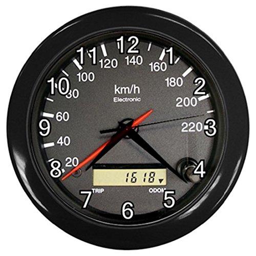 Black Frame Race Car Speedometer Design Plastic 10 Inch Wall Clock