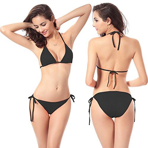 Aguawator Beachwear, Swimwear Bikini Set - Triangle-V-Neck - 2 Pc Tie Side Swimsuit