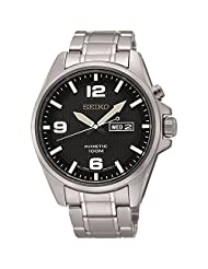 Seiko Smy137p1 Men Kinetic,Stainless Steel Case,Day & Date,100m WR