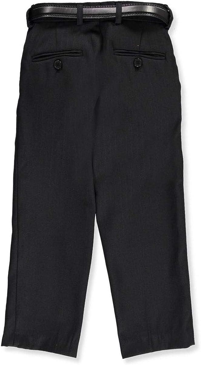Vittorino Little Boys Flat Front Belted Dress Pants