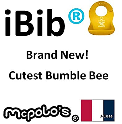 """McPolo's BABYSOFT iBib - the """"iPhone"""" in Silicone Baby Bib World from U-Essae - Fitting MORE Growing Babies 3 Months to 6 Year-Old Toddlers & PreSchoolers comfortably with Smart Buttons"""