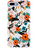 Dimaka iPhone 7 Plus Case, iPhone 8 Plus Case for Girls, Vintage Pattern Case [Floral Cover] 2 Layer Parts Hybrid Cover for iPhone 7 Plus and iPhone 8 Plus (Obsession Camellia)