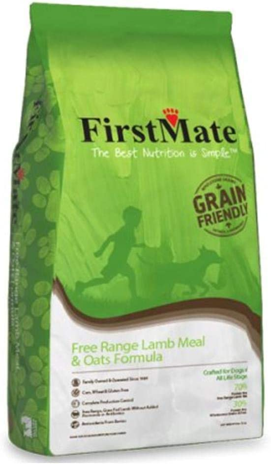 FirstMate Grain Friendly Free Range Lamb & Oats Formula Dog Food 25 Lbs