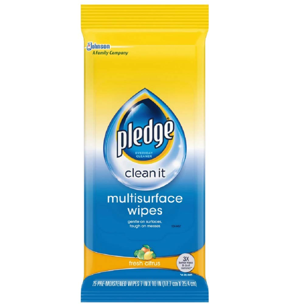 Pledge Multi Surface Everyday Wipes 25 ea (Pack of 10) by Pledge
