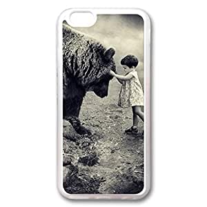 iCustomonline iPhone 6 Bear and Girl Transparent Back TPU Shell Cover Case for iPhone 6 (4.7 inch)