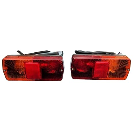 Bajato Rear Tail Flasher Lamp Light Set LH&RH Massey Ferguson  MF-200,300-374, 375E Tractor and Other Tractors- 11001703