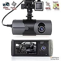 Dash Camera for Cars Sipring 2.7 1080P Car DVR Camera Video Recorder Dash Cam G-Sensor GPS Dual Len Camera