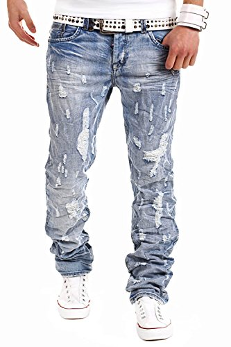 Jeans-Style Jeans Destroyed Hellblau 7606