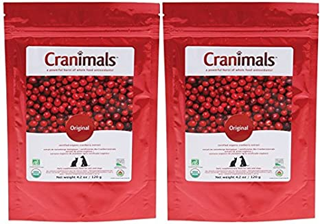 Amazon.com : Cranimals Original Organic Supplement for Dogs and Cats 4.2 oz (2 Pack) : Pet Supplies