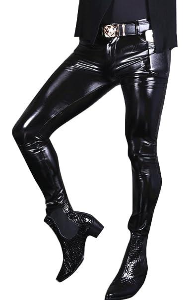 0e1a70f0032de LinvMe Men's Glossy Gothic PVC Pants Elastic Legging Tight Trousers:  Amazon.ca: Clothing & Accessories