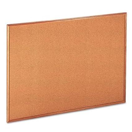 Cork Bulletin Board, 48 x 36, Natural, Oak Frame