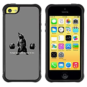 Lady Case@ Strong Weightlifting Gym Bodybuilding Muscle Rugged Hybrid Armor Slim Protection Case Cover Shell For iphone 5C CASE Cover ,iphone 5C case,iphone5C cover ,Cases for iphone 5C