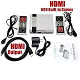Retro Classic Game Consoles Mini HDMI Edition - Built-in 600 Childhood Classic TV Video Games with 2pcs Controllers Handheld Game Player,The Best Way To Take You Back To Your Childhood