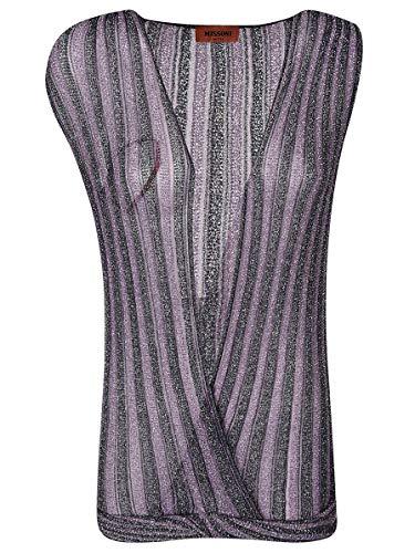 (Missoni Women's Mdj00044bk0474l7025 Purple Viscose Cardigan)