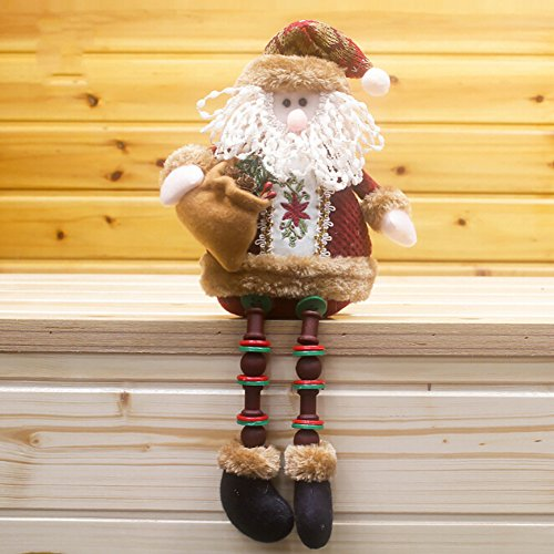 Gaosaili Christmas Standing Figurine Toy Xmas Home Indoor Table Ornament Decorations (Santa Claus)