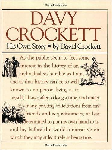 By David Crockett Davy Crockett His Own Story 1st First