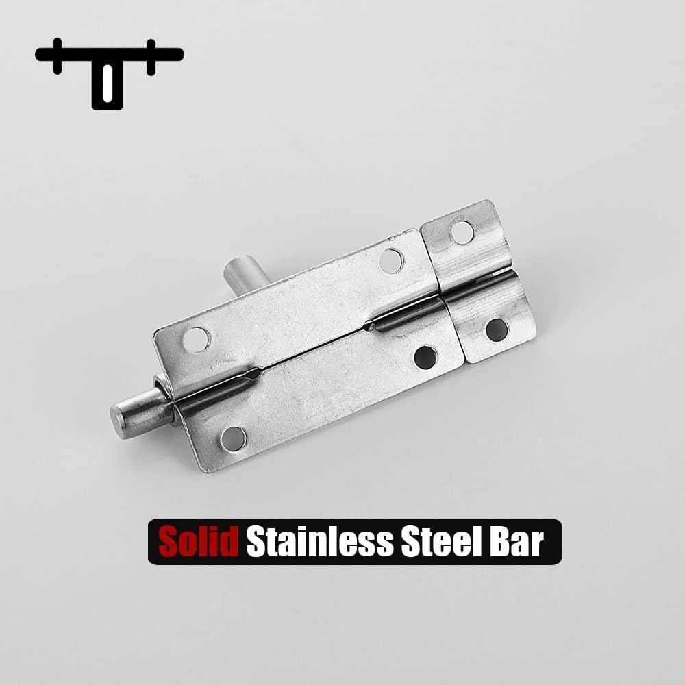 LOKIH Door Window Lock Barrel Bolt Door Latch 304 Stainless Steel 1 Pack,3 pcs