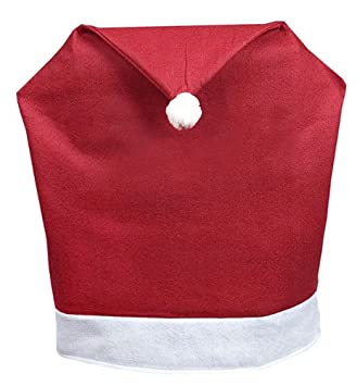 Pack Of 4 Red And White Santa Hat Christmas Chair Covers