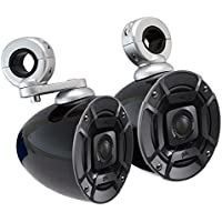 (2) Polk Audio DB402 4 270 Watt Marine/Boat Wakeboard Tower Speakers+Enclosures