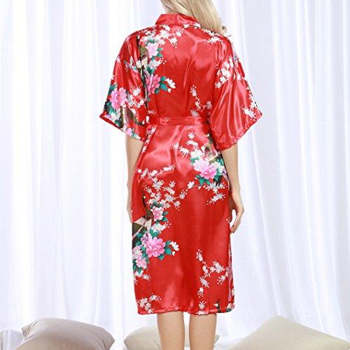 Evedaily Evedaily Vestaglia Rosso Evedaily donna donna donna Evedaily Vestaglia Rosso Vestaglia Rosso Vestaglia donna YpAwv6Cqx