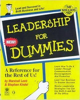 Leadership For Dummies: Marshall Loeb, Stephen Kindel ... : quilting for dummies book - Adamdwight.com