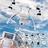 Kanzd KAIDENG 130 WIFI 0.3MP Camera FPV RC Quadcopter MINI Pocket Foldable Drone (White)