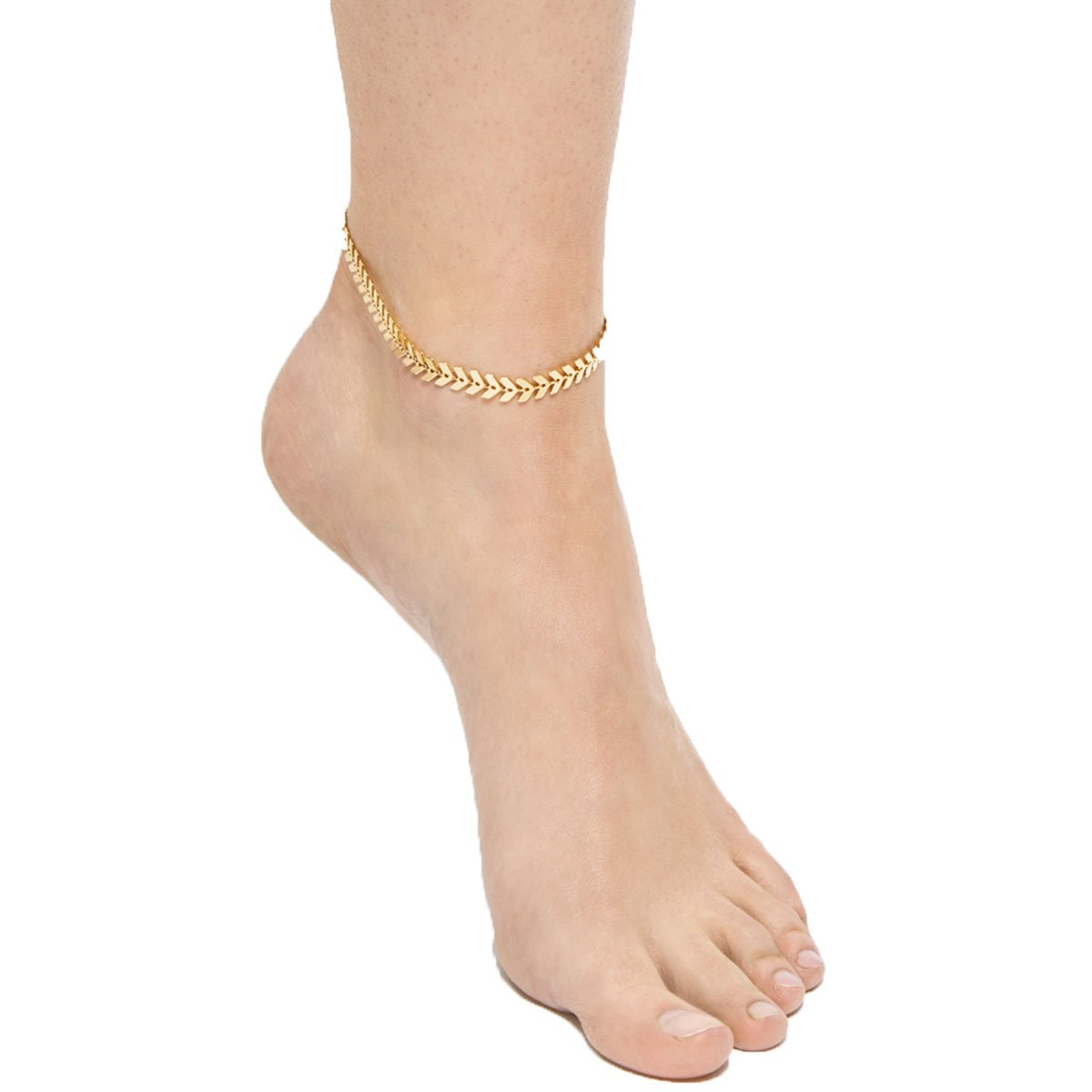 Arrow Anklet Bracelet Gold Silver Beach Foot Chain for Women Ankle Jewelry MISSU JEWELLRY
