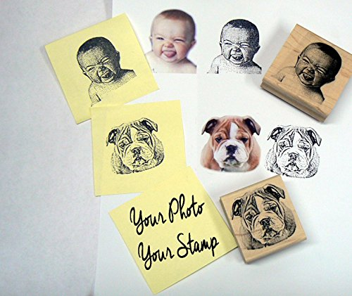 Your Photo- Your Stamp Custom made portrait stamps
