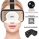 IRUSU MINI VR headset - Virtual reality 3d vr headset with remote control BIGGER 42MM HD OPTICAL RESIN VR GLASSES for better FOV - LIGHTWEIGHT. Best suitable for mobiles like mi max
