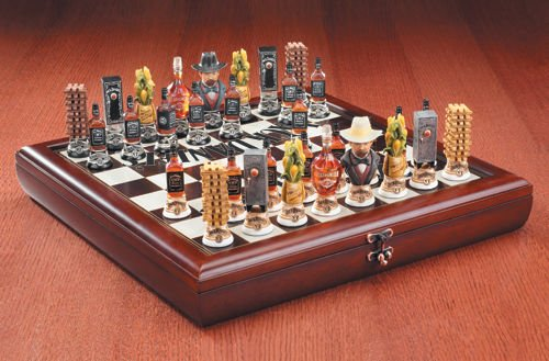 Jack Daniel's Wooden Chess Set, Includes Board and Pieces ()