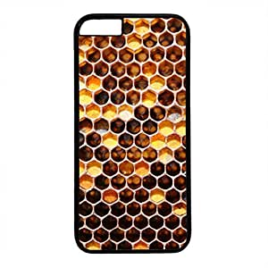 Hard Back Cover Case for iphone 6 Plus,Cool Fashion Black PC Shell Skin for iphone 6 Plus with Honeycomb