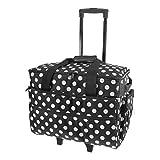Birch 006106/BW Black White Spot Sewing Machine Trolley Bag 51 x 38 x 28cm