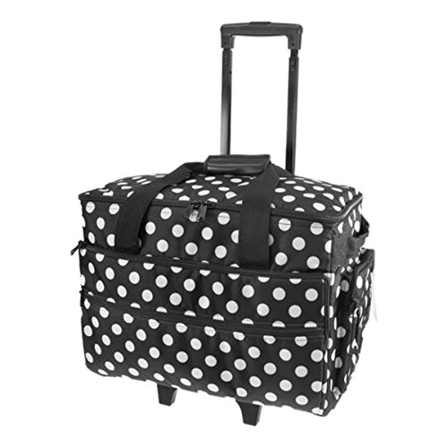 Birch 006106/BW Black White Spot Sewing Machine Trolley Bag 51 x 38 x 28cm by Birch