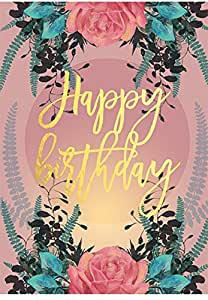 Amazon.com: Papaya Feliz cumpleaños Rose tarjeta de ...