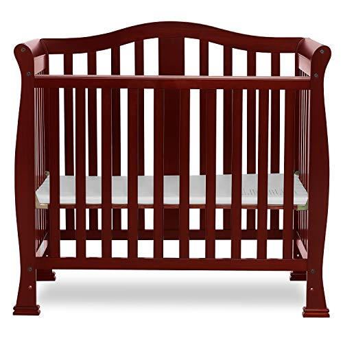 Dream On Me Addison 4 in 1 Convertible Mini Crib, Cherry ()