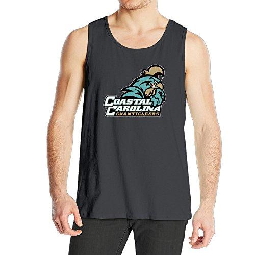 Carolina Mens Sleeveless (Coastal Carolina Chanticleers Baseball Champs Men's Cotton Tank)