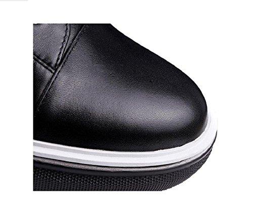 stivali up Collegio pizzo vera 38 37 caviglia stivali pelle tempo Martin fondo spessa stile libero rivetto piatto awzAzKHZ