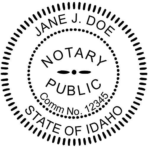 Idaho Notary Round Seal Stamp