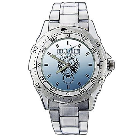 Men's Wristwatches PE01-1458 Final Fantasy VII FF 7 Wolf Emblem Stainless Steel Wrist Watch (Fantasy Wrist Watch)