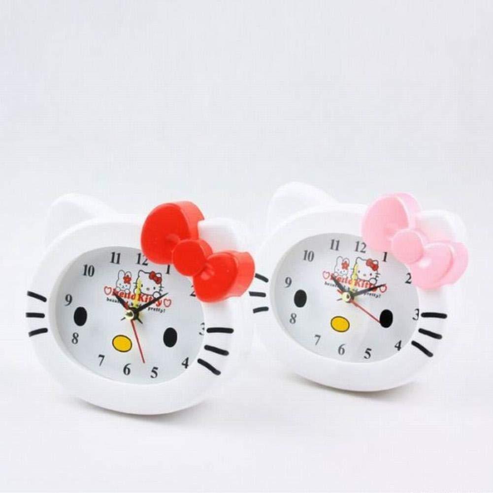 Amazon.com: Kawaii Hello Kitty Reloj despertador de mesa de ...